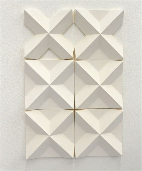 relief pattern wall tile 3d wall installation tiles by agnieszka robak 2012