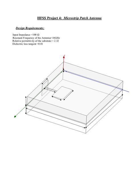 project  microstrip patch antenna