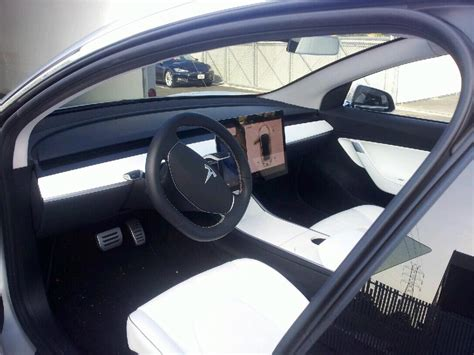 tesla model 3 interior seating new interior image of tesla model 3 surfaces