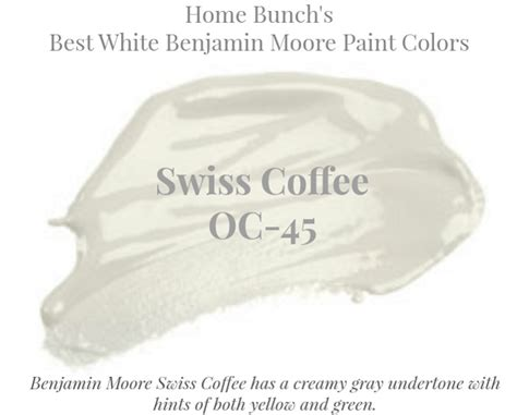 Paint Swiss Coffee by Best White Paint Colors By Benjamin Home Bunch