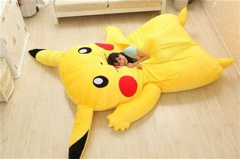 pikachu bed i want those giant pikachu and snorlax pillow beds