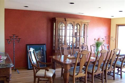 dining room accent wall multiple glazed accent wall eclectic dining room