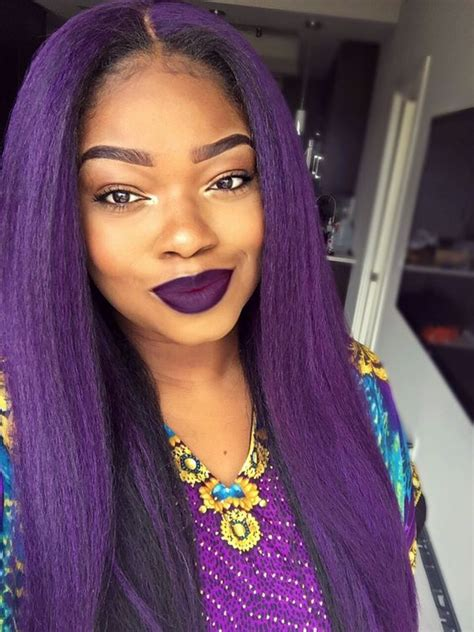 black women hairstyles sewing color purple 35 stunning protective sew in extension hairstyles