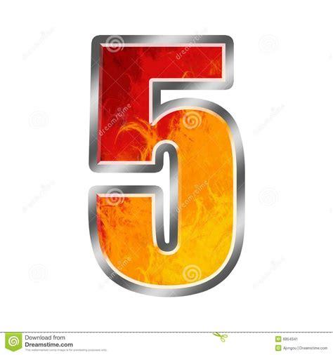 In Flames 5 flames alphabet number 5 five stock illustration image