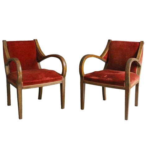 unusual armchairs unusual pair of french art deco bridge armchairs for sale