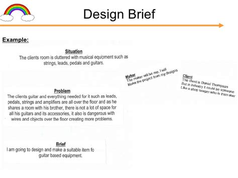 design brief exle for students gcse folder presentation c cox v1 1