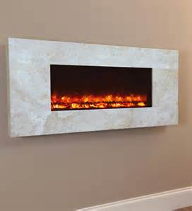 Modern Fireplace Electric by The Celsi Electriflame Travertine Wall Mounted Electric Fire