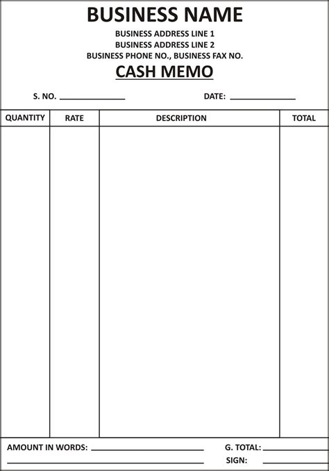 Memo Bill Template General Knowledge Library Memo Template