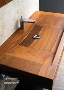 vasque en teck rectangulaire 48x100cm sanitaires vasque