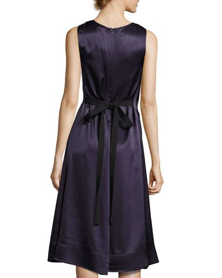 satin swing dress joseph brandon sleeveless satin swing dress marine