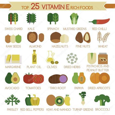 lista alimenti antiossidanti top 25 aliments riches en vitamine e image vectorielle
