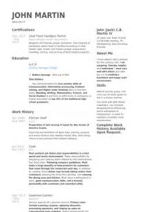 Wait staff resume sample templates