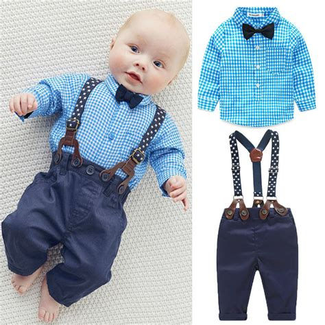 Sale N Bab Shirt Plaid Tie aliexpress buy 2pcs newborn baby boy clothes bow tie