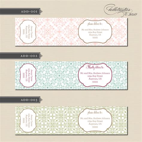 100 free wedding address label template wedding