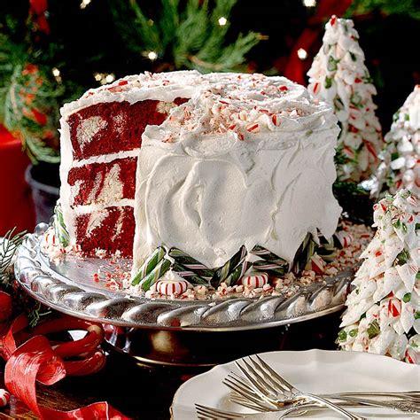 Decorating Ideas For Velvet Cake Velvet Peppermint Cake Recipe Myrecipes