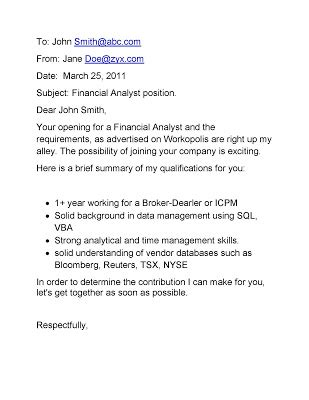 Financial Situation Letter cover letter for trainee financial analyst position