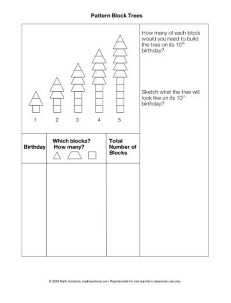 pattern block activities grade 3 106 best images about repeating growing patterns on
