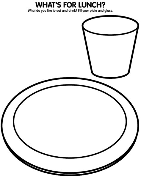 empty plate coloring page coloring pages