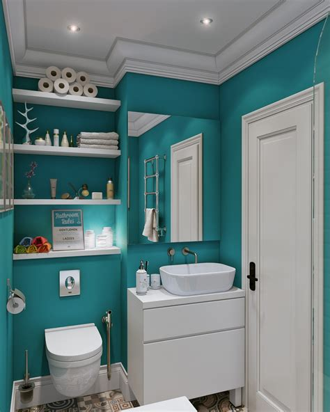 white and teal bathroom small open plan home interiors