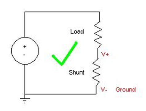 resistor shunt medir corrente mesures de courant guide pratique national instruments