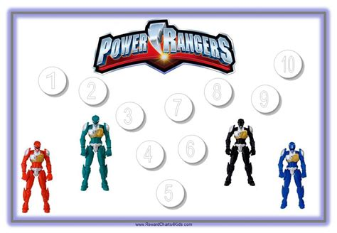 4 images power rangers free printable chore chart power rangers sticker chart free