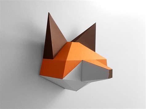 papercraft fox pepakura pattern template  file