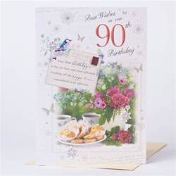 90th birthday card best wishes only 89p