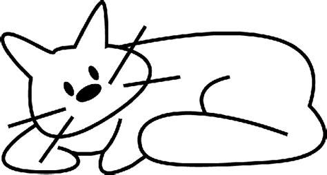 simple kitten coloring page simple cat drawing coloring pages