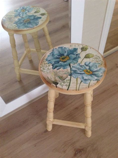 Decoupage Stool - tabure stool tabureler stool decoupage