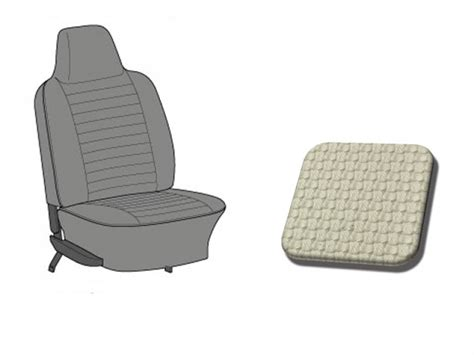 integrated headrest seat covers seats covers tmi 1974 1976 headrest integrated vw