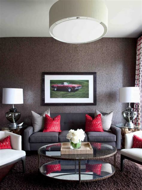 living room with red accents photo page hgtv