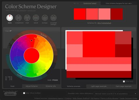 scheme color designer cool tool color scheme designer jay lane