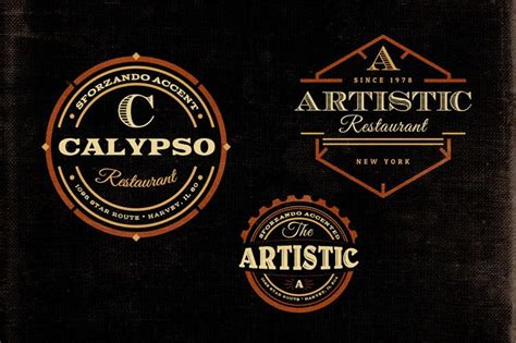 Vintage Style Logo Design Photoshop | 15 free vintage logo badge template collections
