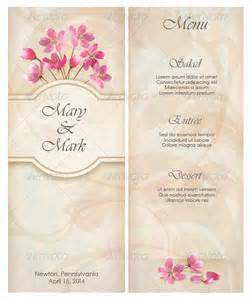 Menu Template Wedding by Wedding Menu Template 24 In Pdf Psd Word