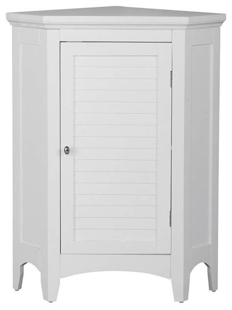 White Corner Cabinet Bathroom by Slone Corner Floor Cabinet With 1 Shutter Door
