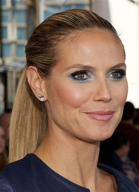 Heidi Klum Needs Some Makeup by Heidi Klum Ponytail Eyebrows German And
