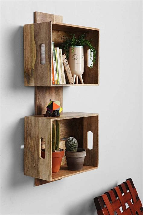 4040 locust stacked crate wall shelf urban outfitters