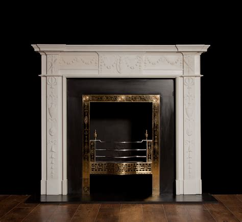 Georgian Fireplace by Reproduction Georgian Style Marble Fireplace