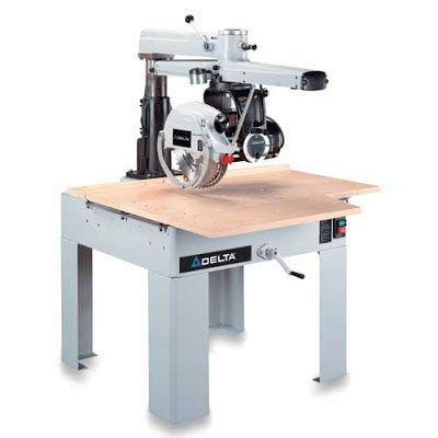 delta industrial saw let s talk wood fine tuning your radial arm saw part one