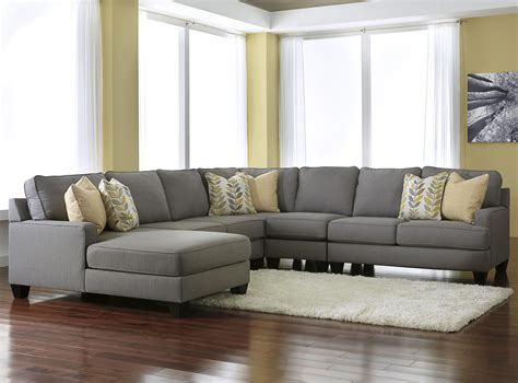 5 piece sectional sofa with chaise signature design by ashley chamberly alloy modern 5