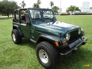 forest green pearlcoat 1999 jeep wrangler sport 4x4