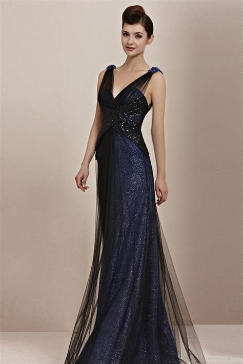 black tie cocktail midnight navy blue low back pageant black tie