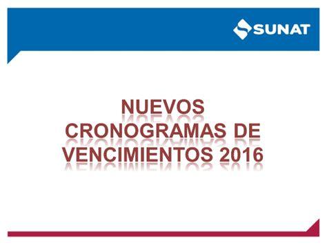 libros electronicos sunat 2016 cronograma de libros electronicos 2016 sunat