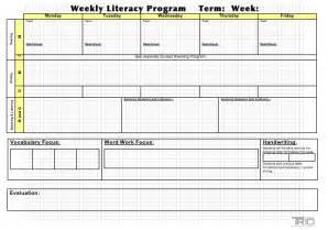 literacy block planning template trio professional learning