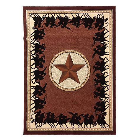 cowboy area rugs donnieann traditions western w cowboy design chocolate 5 ft x 7 ft area rug t726ch the