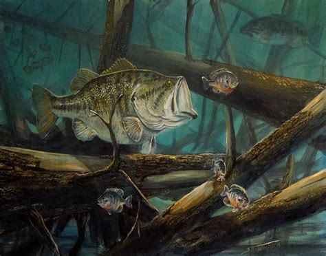 largemouth bass painting by scott thompson