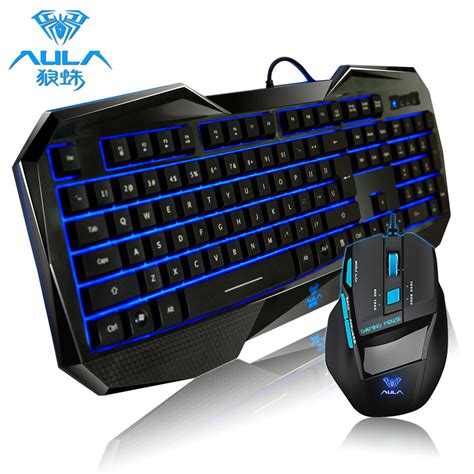 Keyboard Gaming Aula multimedia gaming usb tastatur led beleuchtet und gaming maus 2000 dpi set ebay