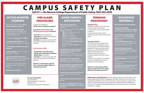Navarro College Alerts Notices Active Shooter Emergency Plan Template