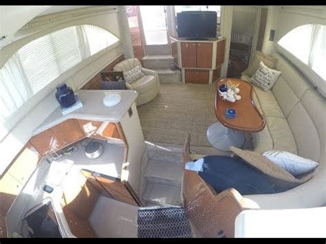 sea ray boat interiors sea ray 38 aft cabin interior tour by south mountain