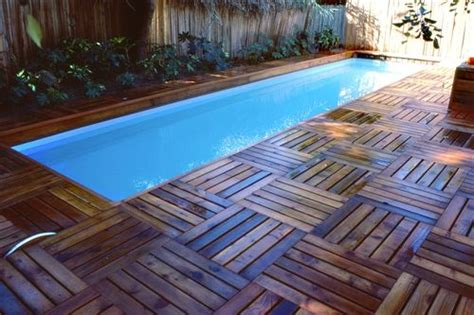 wood pool deck lap pool deck yard and patio ideas pinterest